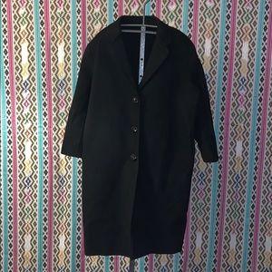 Sunday Seoul Handmade  black wool coat size  2XL